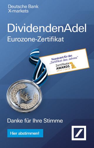 DividendenAdel Zertifikat des Jahres 2016