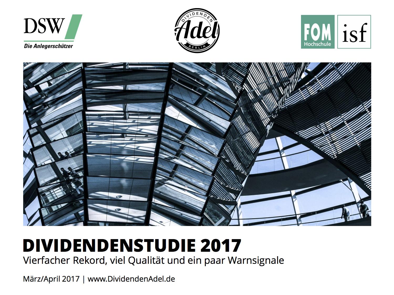 Dividendenstudie Deutschland 2017 Cover
