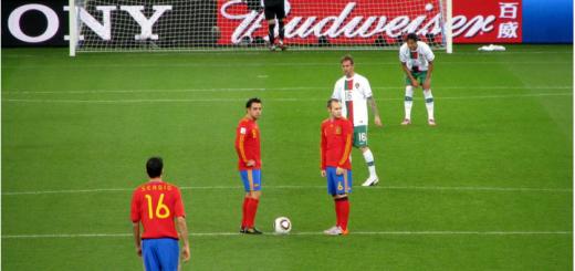 Spanien gegen Portugal Header